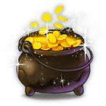 golden shamrock pot met goud